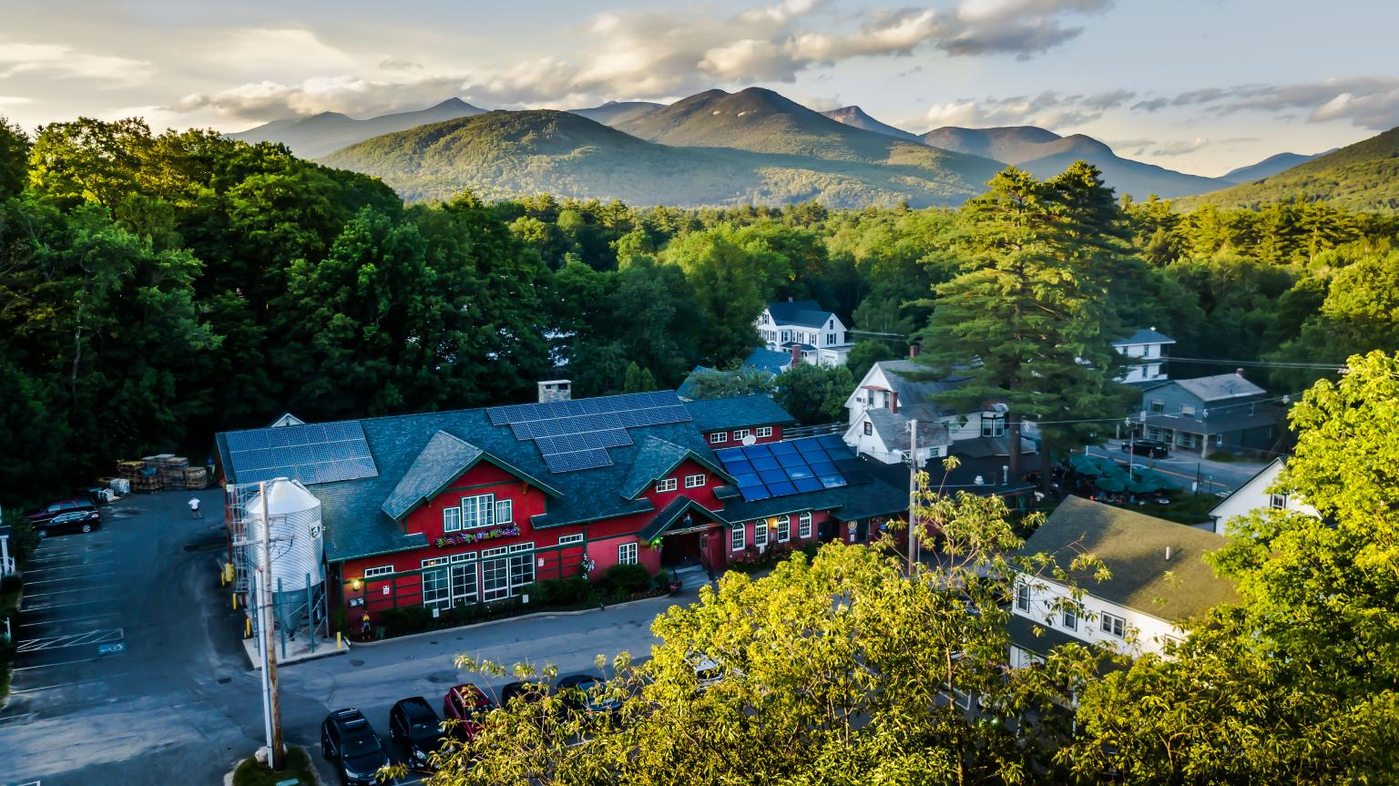 Woodstock Inn Brewery - Aerial View