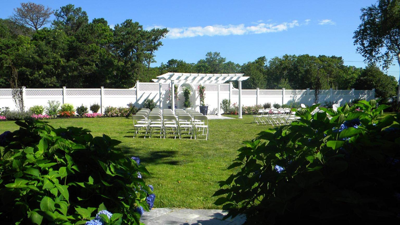 Cape Codder Outdoor Garden Terrace for functions and weddings