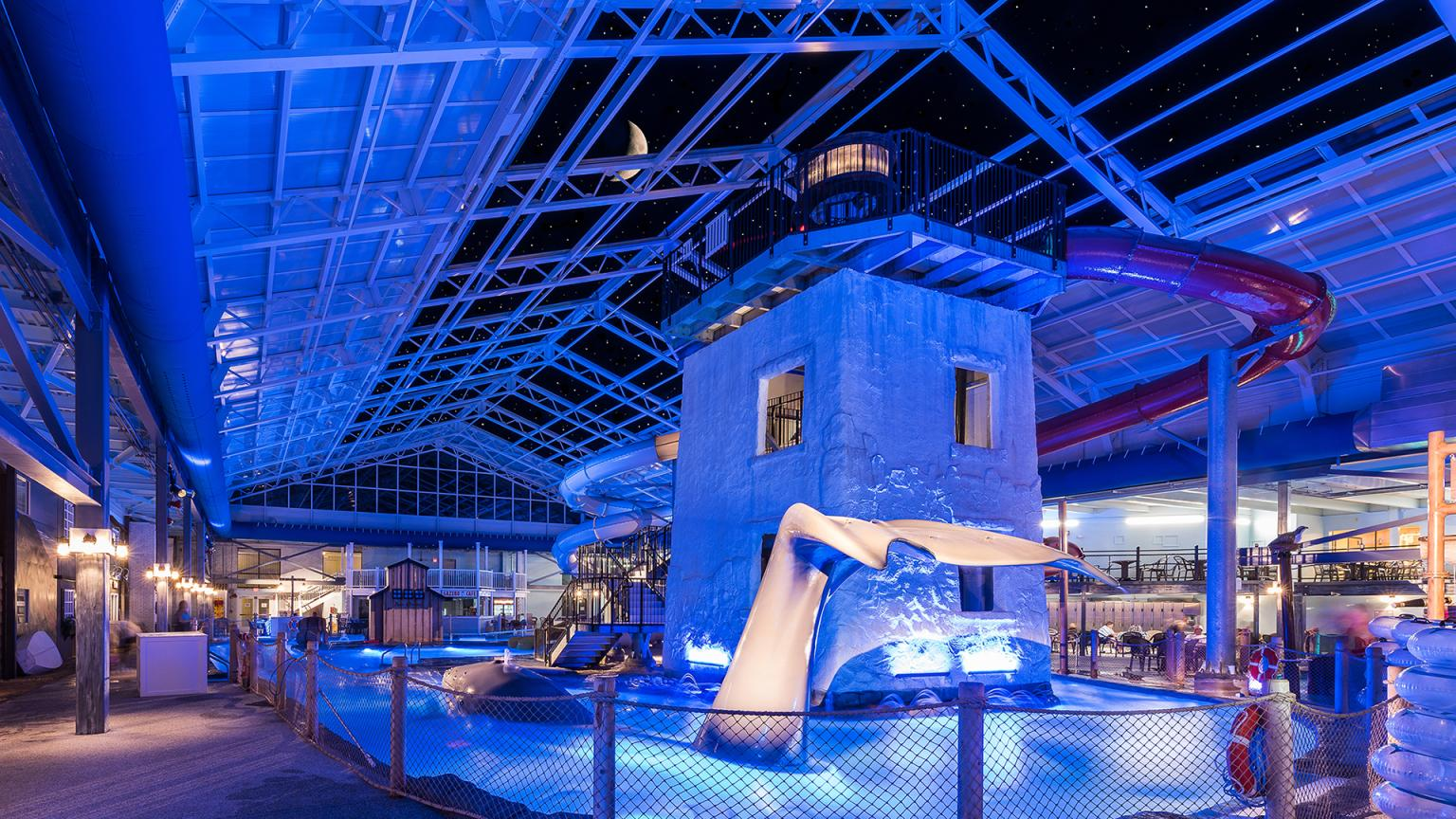 Cape Codder Water Park at Night