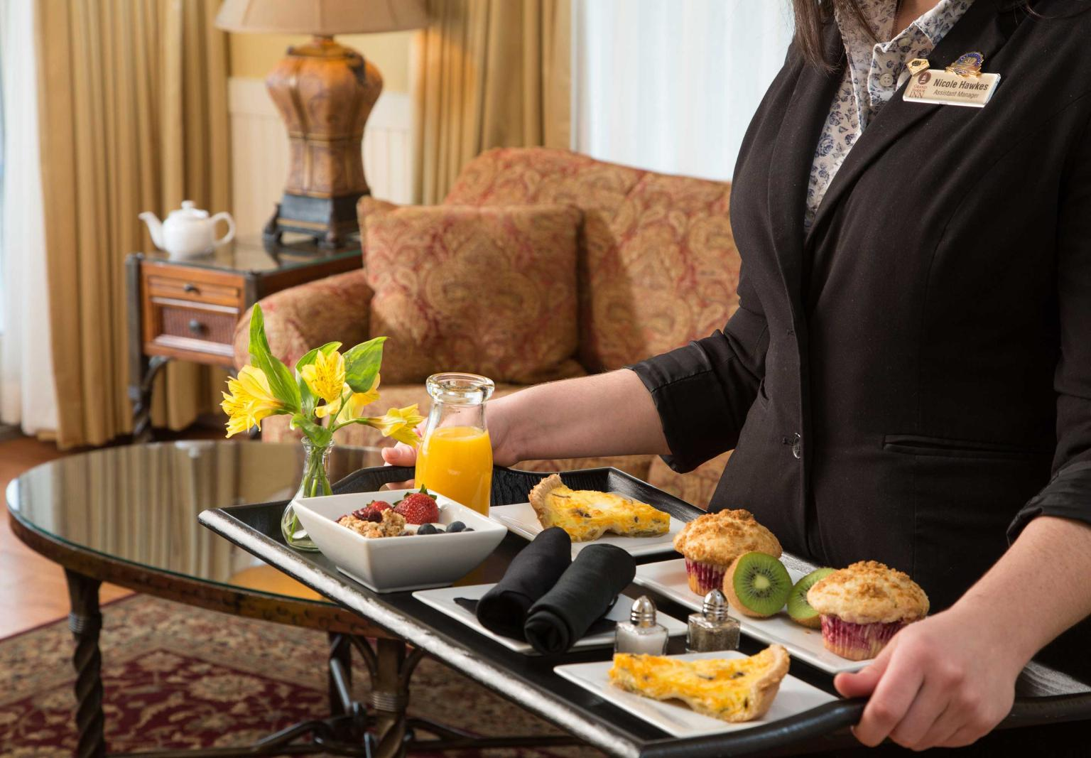 Breakfast Served to your Room