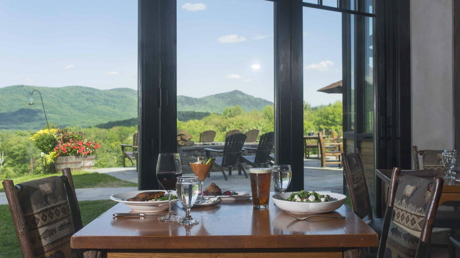 Mountain Top Inn & Resort dining room view