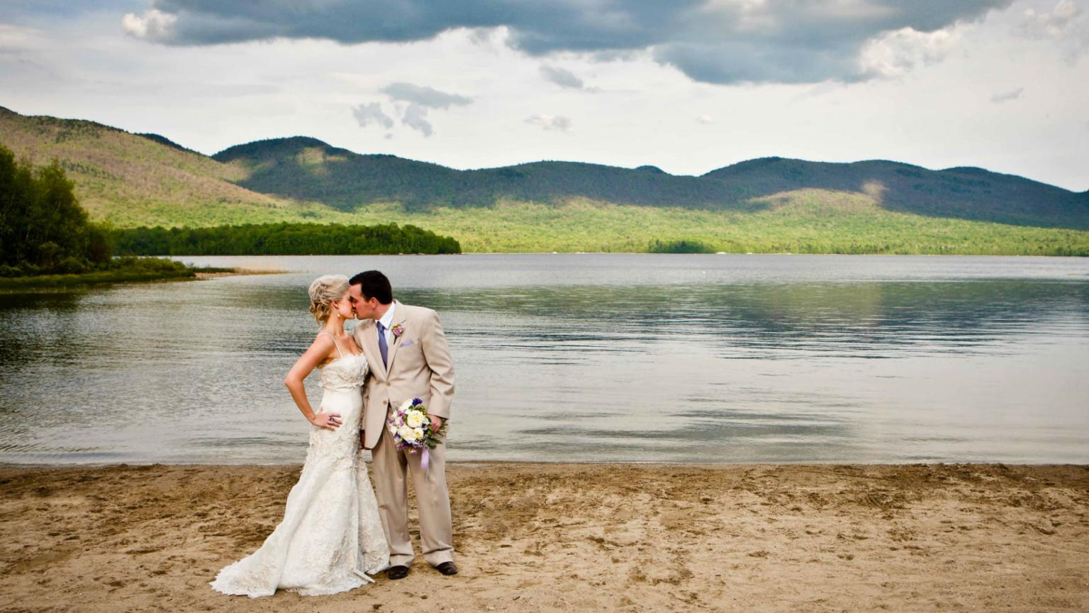 Mountain Top Resort Private Beach Wedding