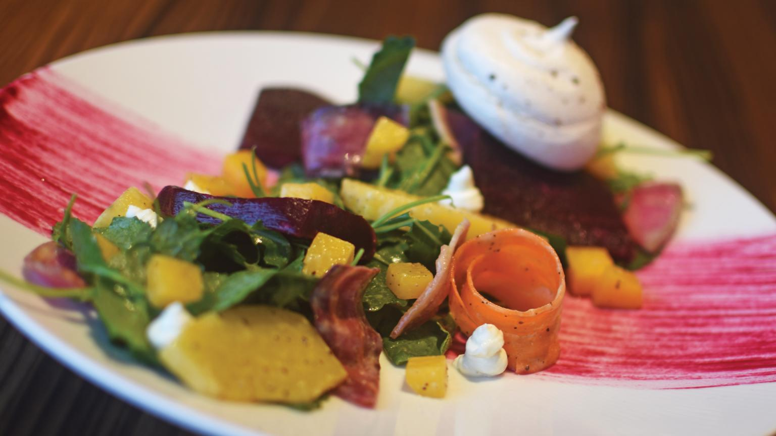 Beet salad created by chefs at Shearwater