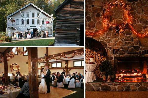 Rustic Wedding, Barn Wedding in New Hampshire at Christmas Farm Inn