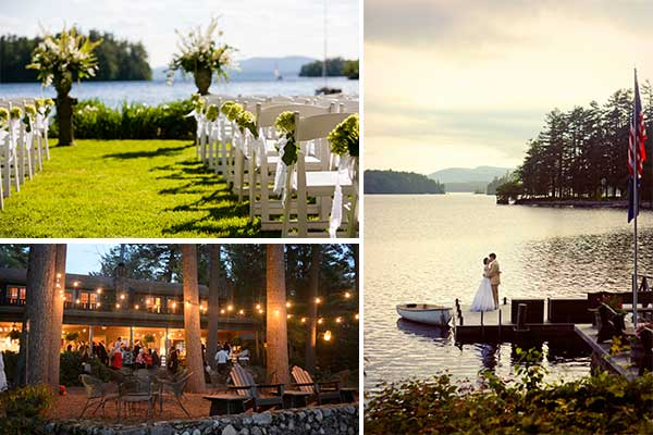 Lakeside Maine Rustic Wedding at Migis Lodge