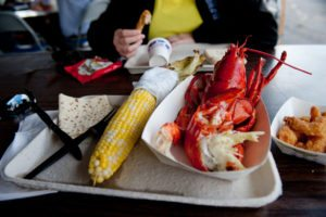Maine lobster is one of many specialties to enjoy at a New England summer food festival.