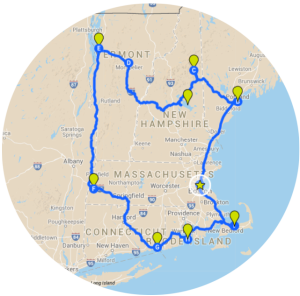 Intinerary- Grand Tour of New England